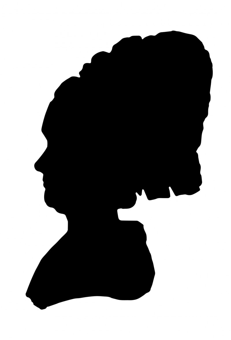 Silhouette of Fromet from an entry made by Moses Mendelssohn in the friendship book (Stammbuch) of Herz Homberg. © Mendelssohn-Gesellschaft.